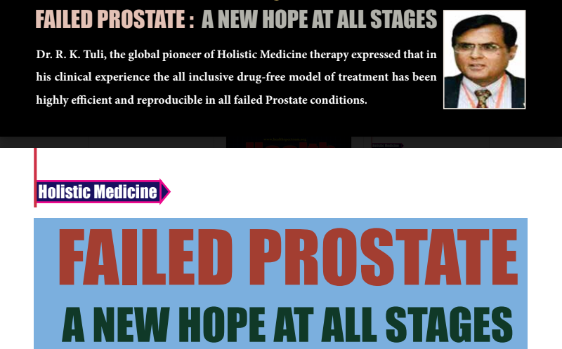 FAILED PROSTATE: A new hope at all stages